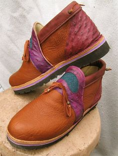 Exotic Leather Handmade Shoes  Tan Red Buffalo with by thoseshoes,