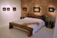 Rail Yard Studios Bed made from railroad ties