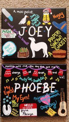 Poster Discover Friends TV Show Set or Individual Hand Painted Canvases Acrylic Monica Geller Chandler Bing Ross Geller Joey Phoebe Rachel Greene