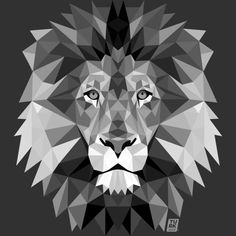 A striking geometric illustration of a fierce lion, the king of the jungle. Distinctive colourful feature from our collection of teal wall stickers. Geometric Lion, Polygon Art, Lion Art, Inspiration Art, Art Design, Lion Design, Pet Gifts, Oeuvre D'art, Art Paintings