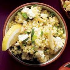Millet Pilaf with Almonds and Feta Recipe