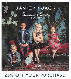 The Janie and Jack Friends and Family Event is here with 25% off your purchase. Use code: FALLFRIENDS19. Valid 9/26/2019 until 9/29/2019. | Girls dresses | Boy suits | Boys outfit | Girls outfit | Shoes | Accessories  #afflink