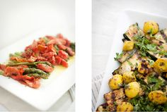 i love both of these dishes... so colorful and healthy.. but that asparagus! mmmm