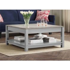 Better Homes and Gardens Langley Bay Coffee Table, Gray/Sonoma Oak - Walmart.com