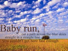 Run, George Strait :)