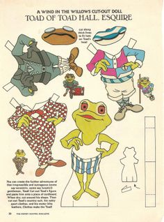 Mostly Paper Dolls: A Wind In The Willows Cut-Out Doll (Frog would be the only one with a paper doll).