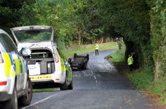 THE air ambulance landed in Ribchester after a car crashed in Stonygate Lane.