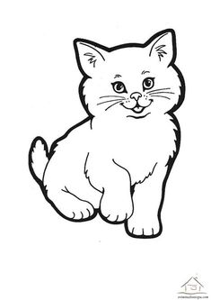 Cat pictures to draw, cat drawing, drawing for kids, easy drawings, cat Cat Drawing For Kid, Simple Cat Drawing, Drawing Cartoon Faces, Cartoon Cartoon, Easy Cartoon, Drawing Drawing, Coloring Pictures Of Animals, Farm Animal Coloring Pages, Cat Coloring Page