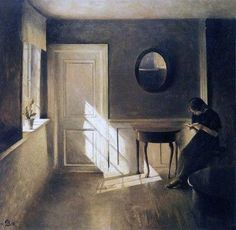 Peter Vilhelm Ilsted — «Girl Reading a Letter in an Interior», 1908