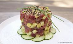 Paleo Tuna Tower - Free Paleo Recipes and More. Get the recipe at BigChinKitchen.com