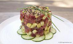 Paleo Tuna Tower - Free Paleo Recipes and More. Get the recipe at BigChinKitchen.com