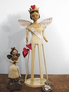 "Image of ""My Love"" Folk Art Santos Cage Angel by Nicol Sayre"