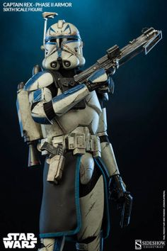 Star Wars figurine Captain Rex Phase II Armor Sideshow Collectibles - Star Wars Clones - Ideas of Star Wars Clones - Star Wars figurine Captain Rex Phase II Armor Sideshow Collectibles Bb8 Star Wars, Star Wars Clones, Star Wars Clone Wars, Star Wars Art, Sith, Figuras Star Wars, Star Wars Figurines, Star Wars The Old, Images Star Wars