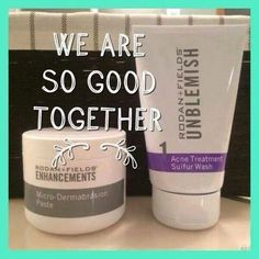 BYEBYE Blackheads! Rodan+Fields microdermabrasion paste & unblemish sulfur wash is the perfect combo !