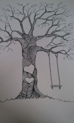 Wedding Thumbprint Tree Print. Great idea for a family tree. Holidays when everyone is home.