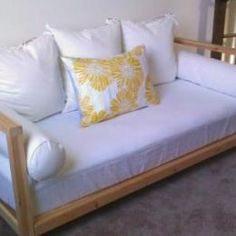 Free Woodworking Plans to Build a 2x2 Collection Double Sided Daybed | The Design Confidential
