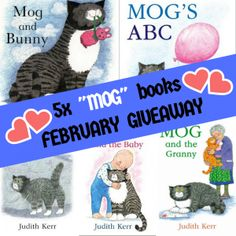 February sees the start of my Judith Kerr 'Mog picture books Giveaway. Get in to win some great reading to share with your little ones. Bunny Book, Helpful Hints, Handy Tips, Picture Books, Toddler Activities, Competition, February, Giveaways, Toddlers