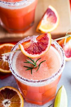 Rock your summer yard parties with this tasty blended Blood Orange Margarita and Rosemary! So easy to make and even easier to drink. Foodness Gracious #foodnessgracious #margarita #summercocktail