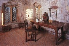 ♡ Ⓐ Berkeley Castle, Gloucestershire ~ this is the room where Edward II was imprisoned and murdered in a most foul way. It is said to be an unpleasant room, where the shades of the past run close to the light of today. Whether or not Edward was an effective ruler, the means of his death were hardly warranted.