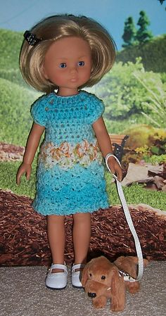 Ravelry: Shell Stitch Crocheted Dress to fit 14-inch dolls pattern by Janice Helge. Fits Hearts4Hearts and Les Cheries dolls.