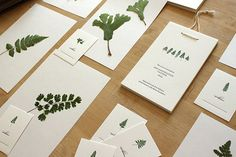 Letterpress Fern Cards by moontreepress \\ Love her process shots!