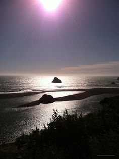 A late wintertime view of the spot where the Russian River meets the Pacific Ocean. (12 miles west of Monte Rio)