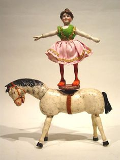 Schoenhut horse and rider