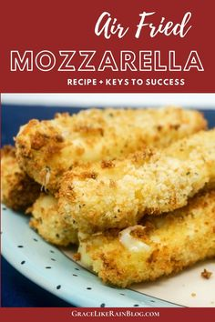 Air Fryer Mozzarella Sticks are a delicious appetizer for your next Italian night. These cheesy bites are perfect to make ahead of time and can be Air Fried in only minutes when you are ready to eat. Homemade Mozzarella Sticks, Mozzarella Cheese Sticks, Homemade Cheese, Italian Appetizers, Yummy Appetizers, How To Cook Hamburgers, Mac And Cheese Bites, Bbq Bacon, Dinner Entrees