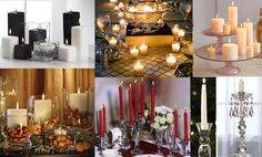 party decorations | Dinner Party Table Decoration Photograph | ... colored candl
