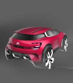 Citroen Aircross Concept sketch by Blanchet