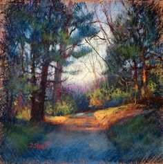 COME WALK WITH ME by Donna Shortt Pastel ~ 12 x 12