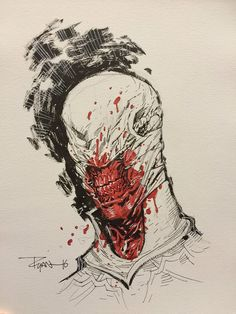 Chatterer by Ryan Ottley, commissioned by Daniel Stillo. Comic Book Artists, Comic Artist, Comic Books Art, Comic Reviews, Horror Icons, Fun Comics, Comic Covers, Macabre, Horror Stories