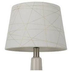 Gold Foil Criss Cross Lamp Shade : Target