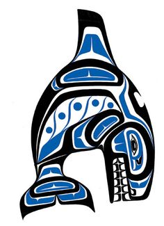 Bravery and Strength   Often depicted as a symbol of great strength and bravery, but was sometimes feared, as the Indians believed the whale would capsize their boats