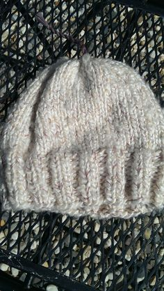 Hand Knit Fluffy Super Chunky Baby Beanie with tassel in super soft yarn by LilRedKnittingHood, $16.00