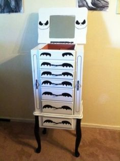 Nightmare before christmas jewelry armoire by CarolynesCreations, $145.00  FREAKING AWESOME!!!!!!!!