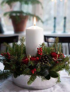 Tutorial for advent Christmas wreath/candleholder