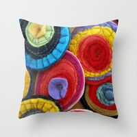 Throw Pillows by Helen Richards Quilts | Society6