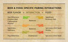Beer & Food: A chart on specific pairing interactions Beer Pairing, Food Pairing, Beer Brewing, Home Brewing, Beer Industry, Beer Recipes, Best Beer, Brewing Company, Beer Lovers