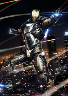 Ironman - Black and Gold by johnsonting on DeviantArt