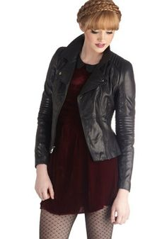 The Wheel Thing Leather Jacket, #ModCloth