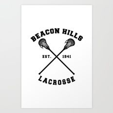 Teen Wolf - Beacon Hills Lacrosse Art Print