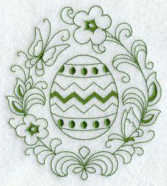 Easter Egg Circle (Redwork)