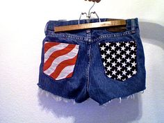 high waisted american flag distressed denim shorts. god bless america. want these.