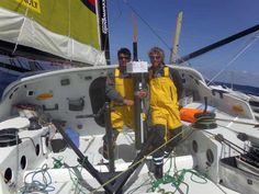Bernard Stamm y Jean Le Cam han necesitado 24 días, 21 horas y 33 minutos desde la salida de Barcelona para cubrir este recorrido, día y medio menos que el Virbac Paprec 3 en la Barcelona World Race 2010-2011. BWR. Cada uno en su sitio en los mares australes