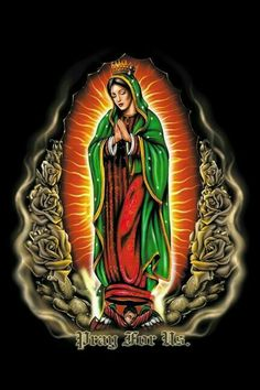 Guadalupe Photo by Arte Cholo, Cholo Art, Chicano Love, Chicano Art, Arte Lowrider, Virgin Mary Art, Mary Tattoo, Chicano Drawings, Chicano Lettering