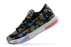 """Mens Shoes Nike Zoom Kevin Durant VI 6 Ext """"Floral"""" New Arrivals in Black and Muticolor"""