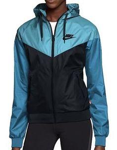 Nike WindRunner Women s Jacket Windbreaker Hoodie Blue Black 545909-020 15825a3f0