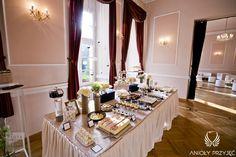 12. Platinum Gold Wedding, Sweet buffet, Sweet buffet decoration / Platynowo złote wesele, Słodki bufet, Anioły Przyjęć