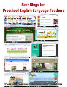 ESL/EFL Preschool Teachers: Favorite Blogs for Preschool and Kindergarten English language Teachers